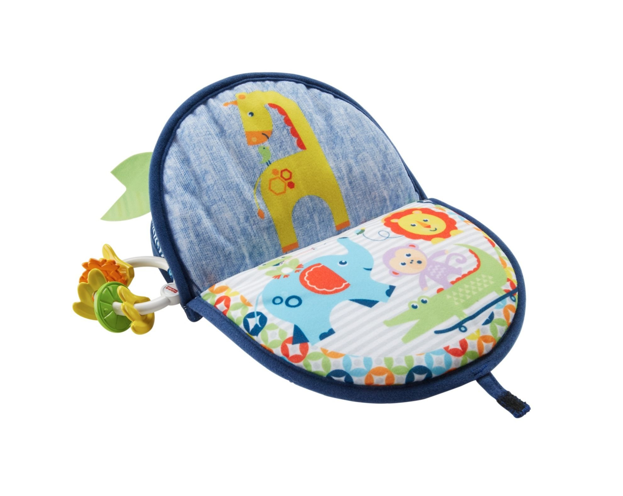 Fisher-Price Monkey Mirror, New-born Tummy Time and Sit Sensory Toy with Textures and Colours, Suitable from Birth 2