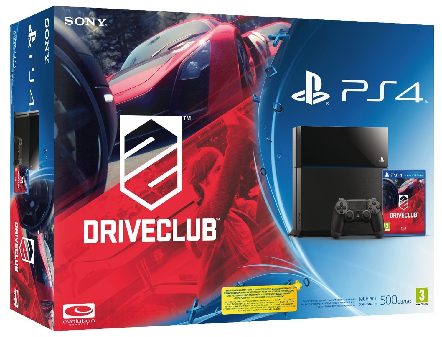 PlayStation 4: Console 500GB B Chassis + Driveclub [Bundle]