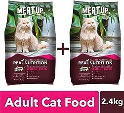 Meat Up Adult Cat Food, 1.2 Kg (Buy 1 Get 1 Free)