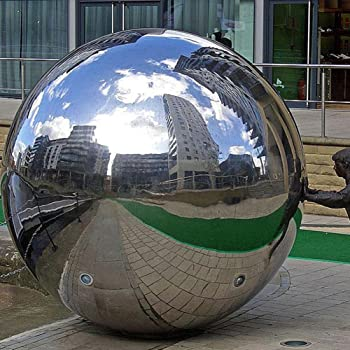 Stainless Steel Mirror Polished Sphere Hollow Round Ball Garden Ornament A GB