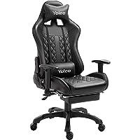 YOLEO Gaming Stuhl, bequemer Gaming Sessel 150 kg Belastbarkeit, Kunstleder PC Stuhl drehbar höhenverstellbar Gaming…
