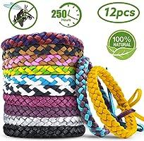 AODOOR Bracelets Anti Moustique, Premium Bracelets Anti-moustiques, Extérieure Intérieure 100% Naturel Bracelets Anti...