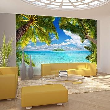 Fototapete tropen  murando - Fototapete Tropische Insel 400x280 cm - Vlies Tapete ...
