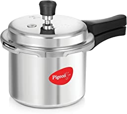 Pigeon Favourite Outer Lid Non Induction Aluminium Pressure Cooker, 3 Litres, Silver