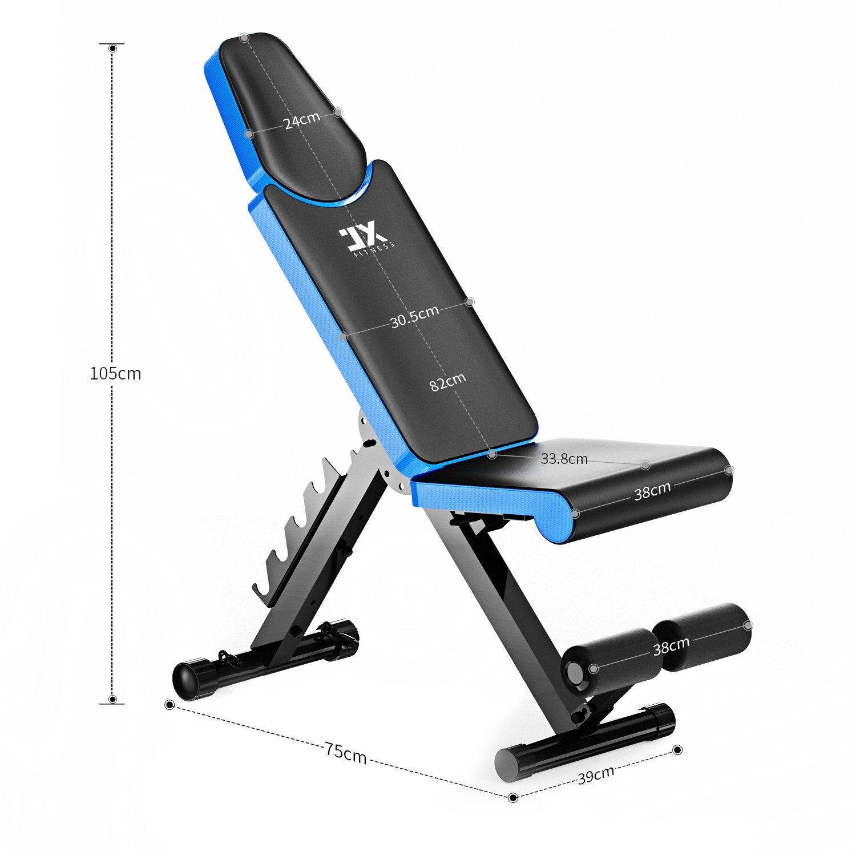 Jx Fitness Banc De Musculation Pliable Banc De Poids Gymnastique à