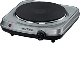 Eltac EK 18 Elektro-Kochfeld / Edelstahl / Breite: 18 cm / Gussheizplatte / Überhitzungsschutz