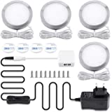 Lampe de Placard LED Éclairage, COSYLE spot LED Intérieur, Rond Ultra slim Blanc froid 6000K, pour Salle de Bain, Toilette, C
