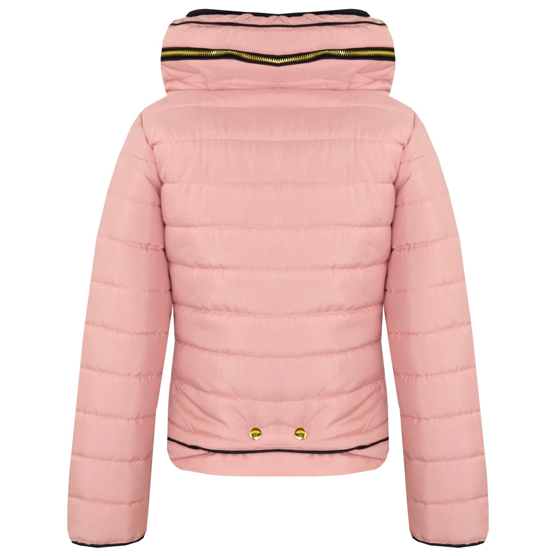 A2Z 4 Kids/® Girls Jacket Kids Stylish Padded Puffer Bubble Faux Fur Collar Quilted Warm Thick Coat Jackets Age 3 4 5 6 7 8 9 10 11 12 13 Years