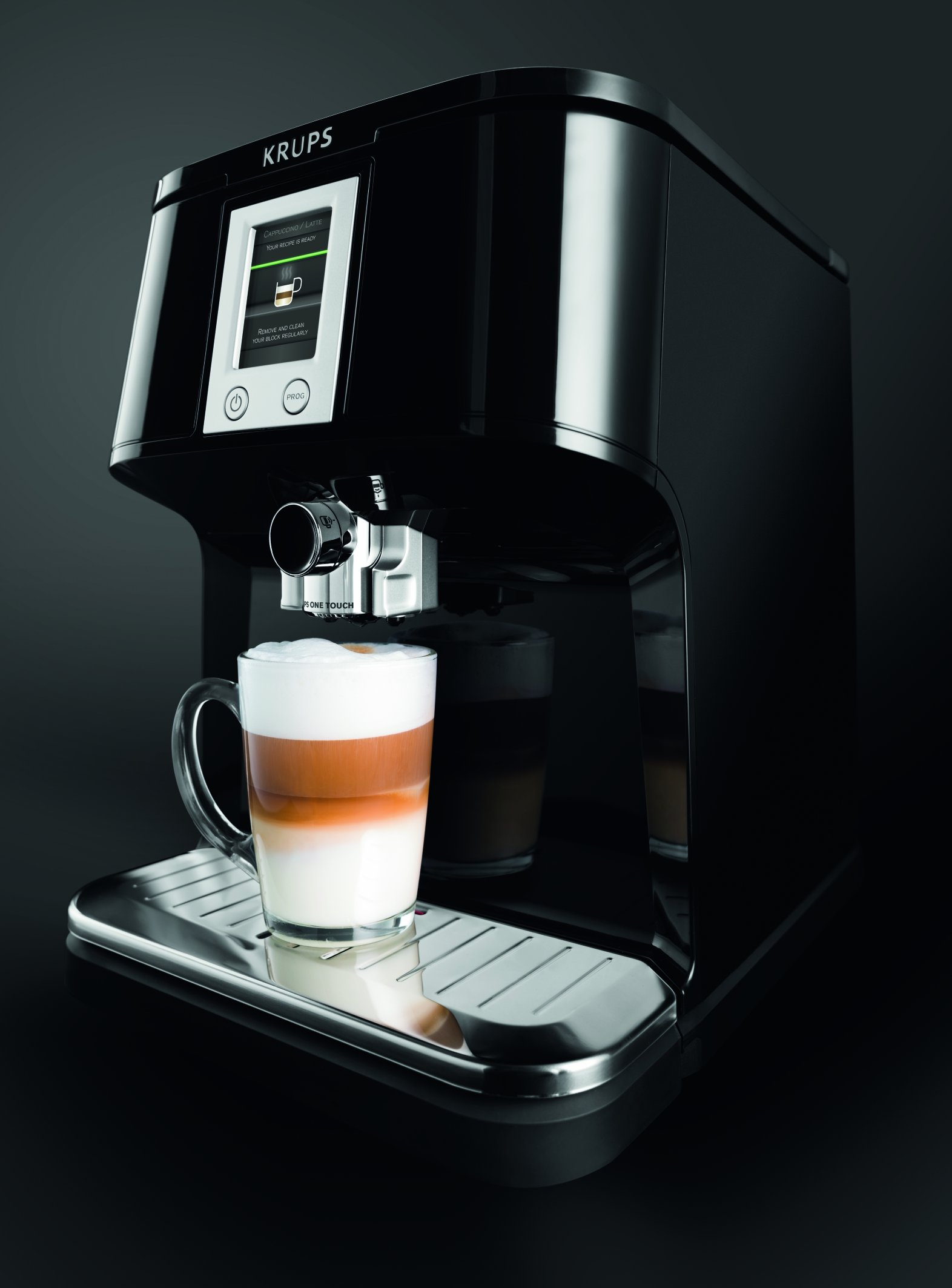 KRUPS-EA850B-Kaffeevollautomat-One-Touch-Funktion-17-l-15-bar-Touchscreen-Display-schwarz