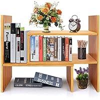 Callas Adjustable Wood Desktop Storage Organizer Display Shelf Rack | Spice Rack | Counter Top Bookcase Book Shelf…