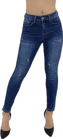 JOPHY & CO. Pantalone Jeans Denim Donna in Cotone Elasticizzato con Cinque Tasche, Articoli & Stili Vari.