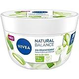 NIVEA Natural Balance Aloe Vera Allzweckcreme (200 ml), feuchtigkeitsspendende, vegane Creme mit Bio Aloe Vera, Universalcrem