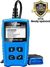 [Aktualisierte Version] OBD2 Diagnosegerät Auto Tvird Universal Diagnose Scanner für alle Fahrzeuge ab 2000 mit OBD II Protokolle/standardem 16-pin OBD-II Schnittstelle/Batterietest EOBD Code Reader (24 Monate Garantie)