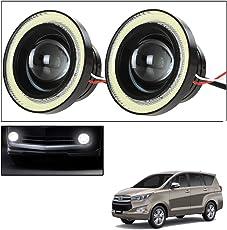 Vheelocityin 2Pc 3.5Inch Car Fog Lamp Angel Eye DRL Led Light For Toyota Innova Crysta