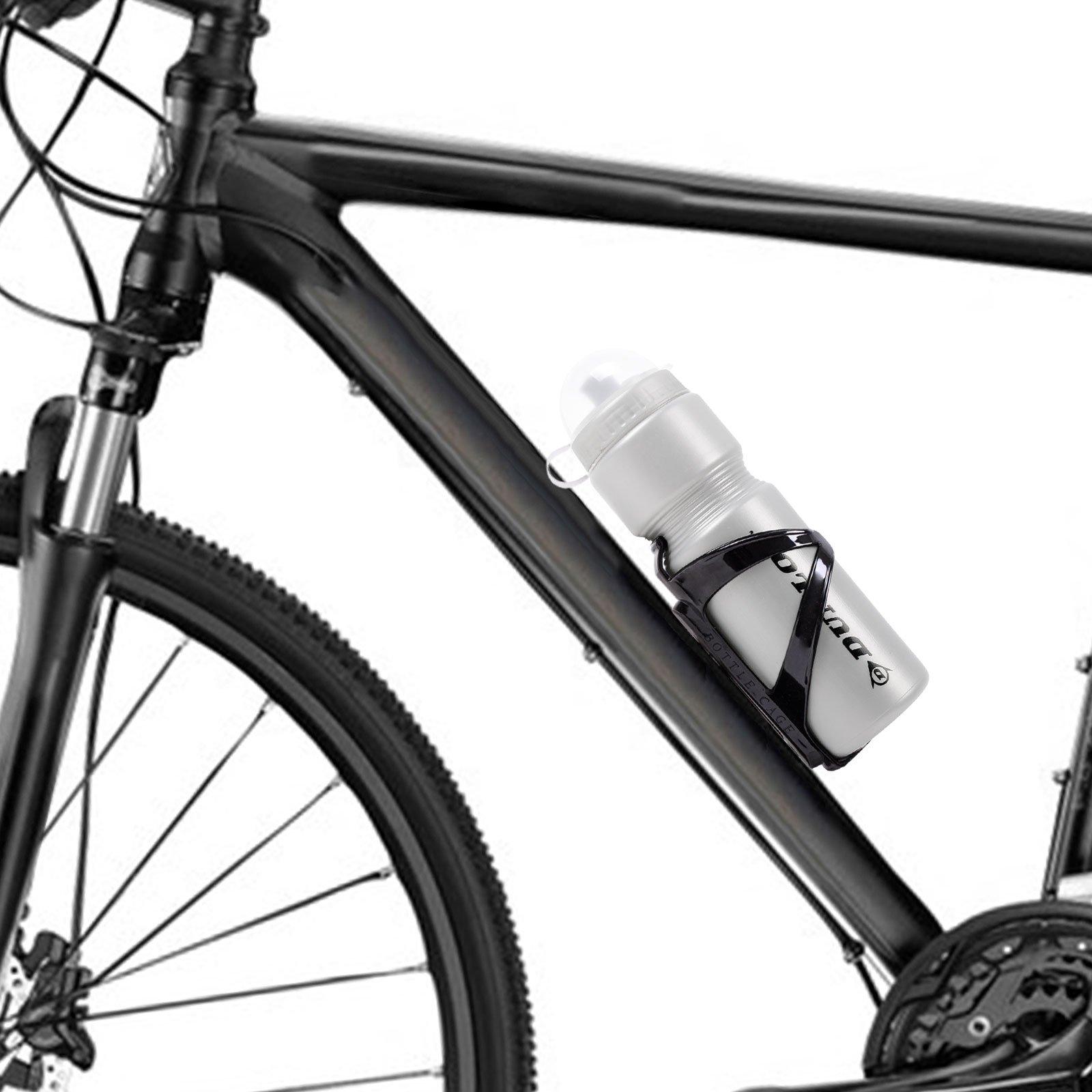 Bidon Dunlop 750 ml Gourde plastique avec portes bouteilles Argent v/élo VTT VTC
