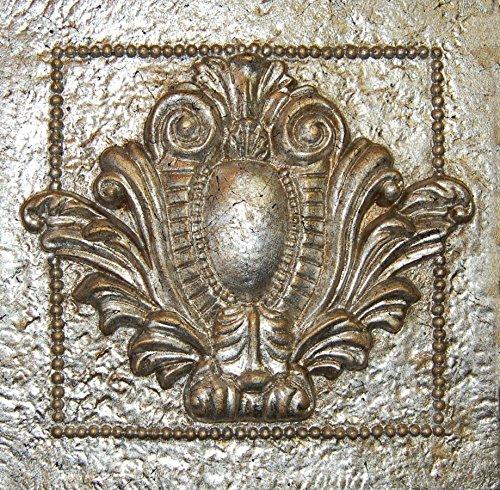 Hickory Manor House Single Crest Fliesen, vergoldet silber (Single Hickory)