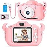 SoloKing Cámara para Niños,Video Cámara Infantil con 12 Megapíxeles,Doble Lente,Pantalla LCD de 2.0 Pulgadas,Video HD de 1080