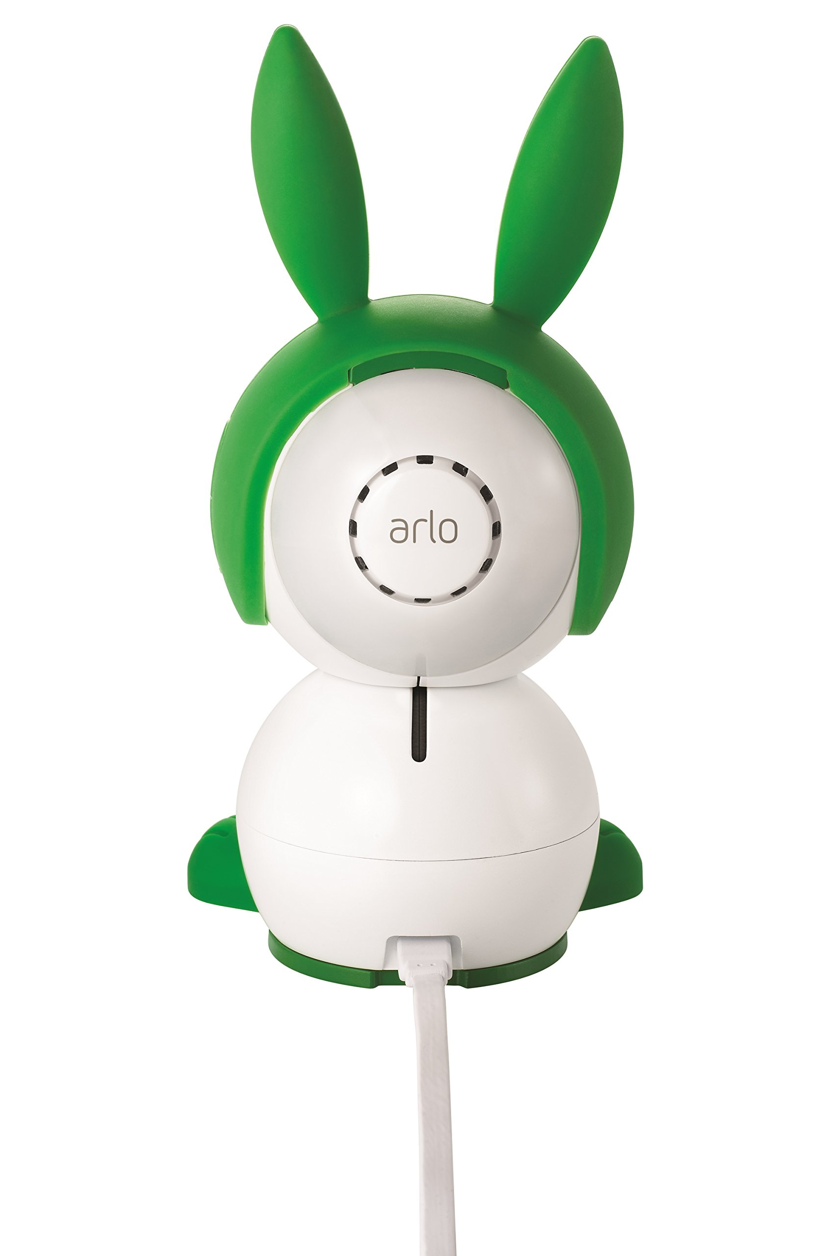 Arlo Baby Monitor Smart WIFI Baby Camera 1080P HD with 2-Way Audio, Night Vision, Air Sensors, Lullaby Player, Night Light, Works with Amazon Alexa, HomeKit (ABC1000) Arlo 1080p HD quality: View live or recorded videos in detail and rich colour; go untethered from a power source for up to 6 hours (up to 3 hours with night vision active) to go where your baby goes Two-way talk: Comfort and talk to your baby from anywhere, whether you're at the office or in the living room; built-in rechargeable battery Enhanced night vision: Near-invisible infrared LEDs lets you see your baby clearly, even in the dark(940nm LED: illuminates up to 15 feet) 6