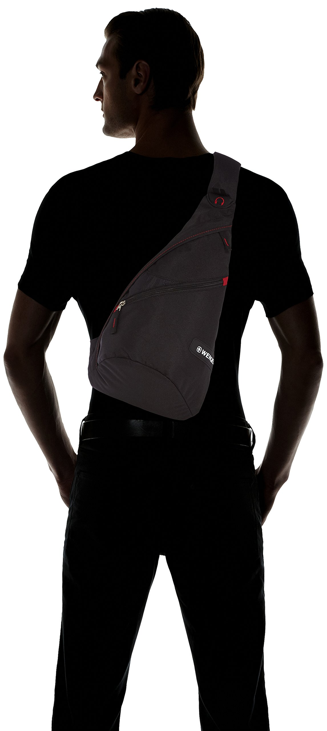 71alAdYak L - Wenger Mochila Casual, 12 litros, negro (Negro) - WG18302130