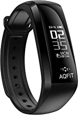 AQFIT Activity/Fitness Tracker with Blood Pressure, Blood Oxygen and Heart Rate Monitor with Pedometer & IP67 for Android and iOS