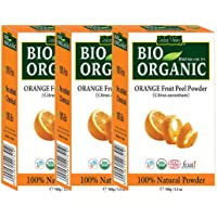 INDUS VALLEY Organic Orange Peel Powder For Face & Skin Care - Set Of 3(100g x3 = 300g)