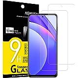 NEW'C 2-Stuks, Screen Protector voor Xiaomi Mi 10T Lite 5G, Gehard Glass Schermbeschermer Film 0.33 mm ultra transparant, ult