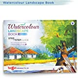 Watercolour Landscape Painting Book for Artists | Colouring Book | Stone, Grass, Tree Paintings | Step by Step Guide | Beginn