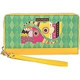 Chumbak Decorative Elephant Long Wallet (Yellow)