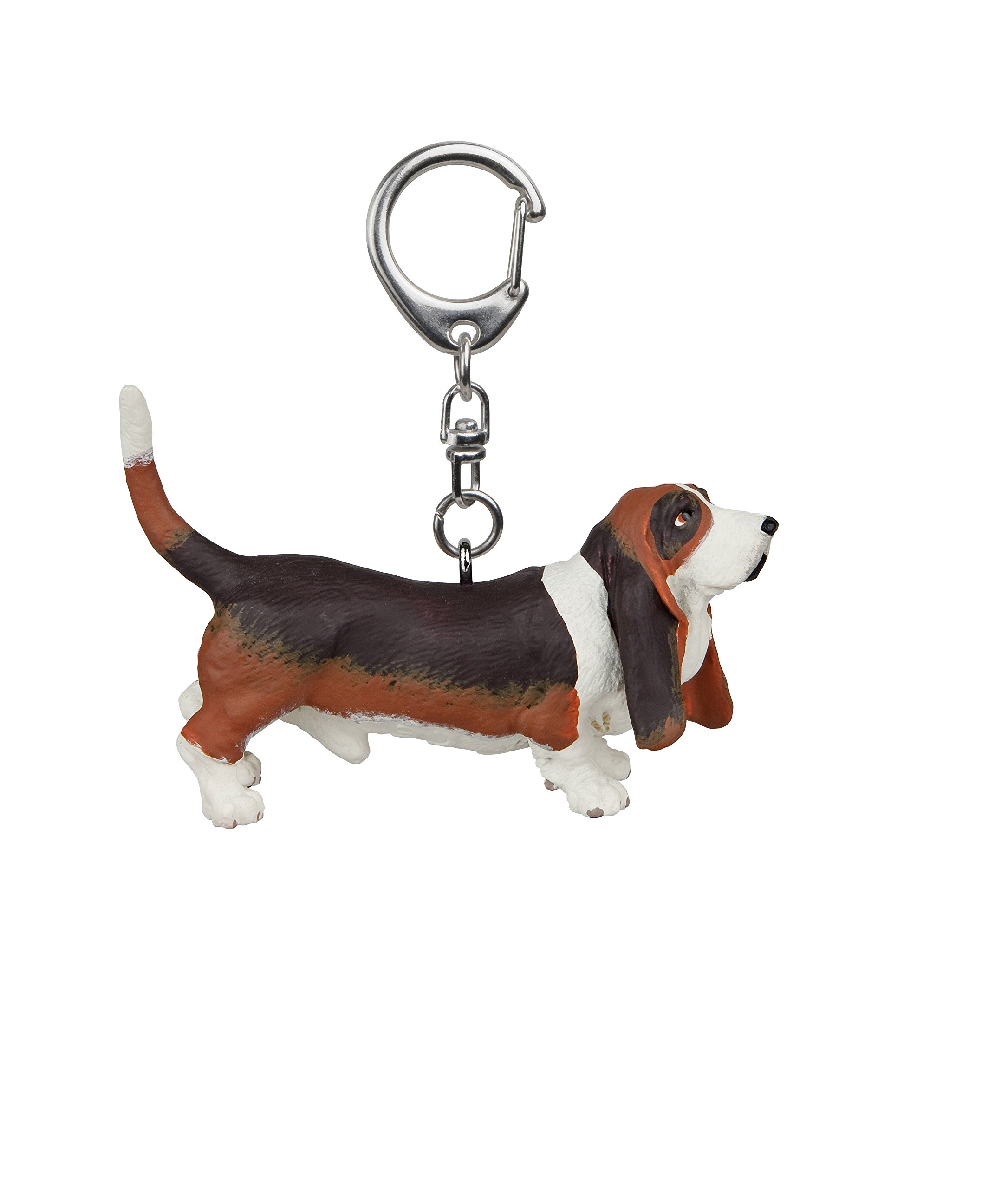 Papo 02004 Key rings Basset hound Figurine, Multicolour