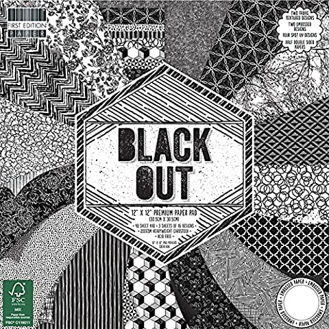 First Edition Black Out Premium Paper Pad 12