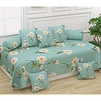 Miracle Home Decor Rosaria Deewan Set Cotton 8 PCS (1 Deewan Bedsheet + 2 Bolster Cover + 5 Cushion Covers)