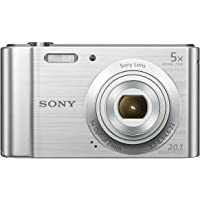 Sony DSCW800 Digital Compact Camera (20.1 MP, 5x Optical Zoom) - Silver