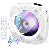CD Player with Bluetooth, Gueray Wall Mountable CD Player Built-in HiFi Speakers with LCD Screen Display Home Audio Boombox F