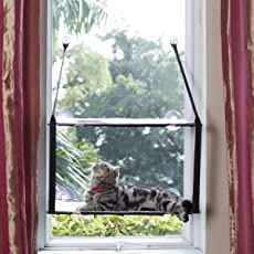 LS Katzenhängematte Katzebett Fenster Fensterplatz Haengematte Katzenbett Katzen Betten Sonnenschein