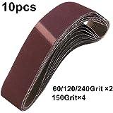 KingLan 10Pcs 60//120//150//240 Grit 40Mm X 680Mm Schleifband F/ür Schleifmaschine