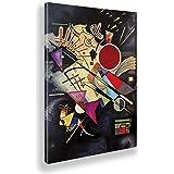 Giallobus - Cadre - Vassily Kandinsky - Accompagnement Noir - Toile - 50x70 - Prêt à accrocher - Peintures Modernes pour la M