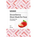 Amazon Brand -Solimo Face Sheet Mask, Strawberry