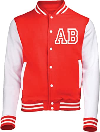 123t Varsity Jacket with Front Initial Personalisation