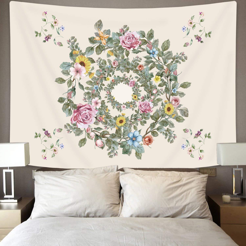 Amkun, arazzo da parete, decorazione per salotto, camera da letto,  dormitorio, utilizzabile come telo mare e tovaglia, motivo: foglie di  banana e ...