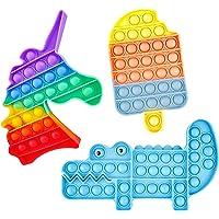 Pop on It Push Bubble Fidget Toy Set, Silicone Squeeze Sensory Fidget Toys Ensemble de Jouets Anti-anxiété Anti-Stress…