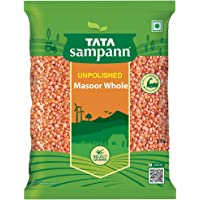 Tata Sampann Unpolished Masoor Dal, Whole, 1kg