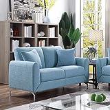 Danube Home Jozel 2 Seater Fabric Sofa - Blue