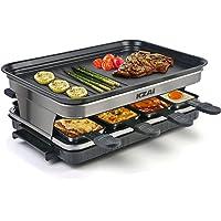 Appareil a Raclette 8 Personnes Machine a Raclette avec 8 Mini Coupelle Raclette Spatules, Thermostat Revêtement…