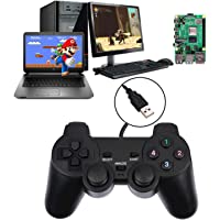 Baigeda Game Controllers for Computer Laptop USB 3.0 Wired Dual Shock Joypad for PC Game Hardware Joystick Gamepad 1.5M…