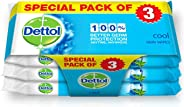 Dettol Cool Antibacterial Skin Wipes 10 Count 2+1 Free