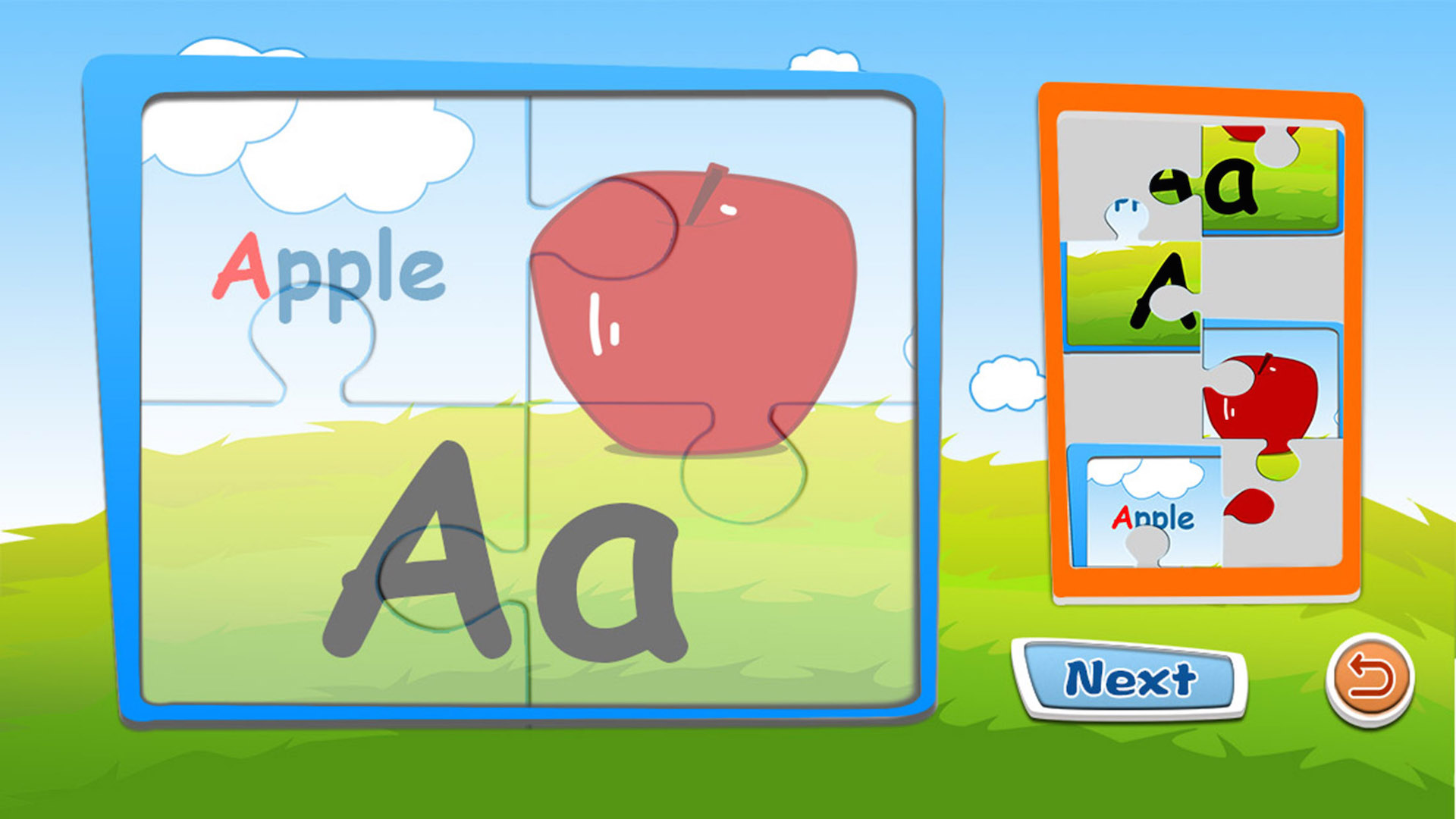 Preschool alphabet kids ABC puzzles and flashcards free english