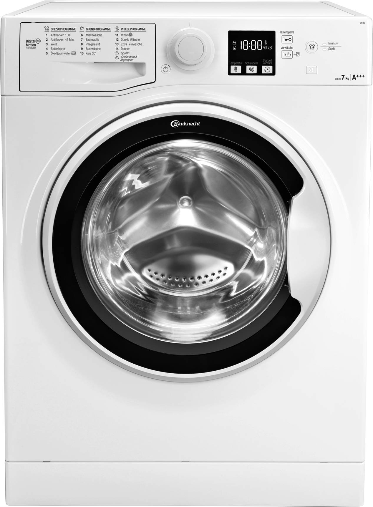 Bauknecht AF 7F4 Waschmaschine Frontlader, 7 kg Füllmenge, Nachlegefunktion