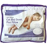 EDS Anti-Allergy Cot Bed Duvet with Pillow,For Cot Bed 4.5, 7.5 & 9 Tog with Hollowfibre filling (7 Tog)