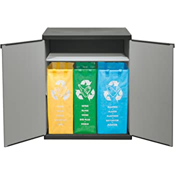 Jago memb01 contenitori differenziata box in legno giardino e giardinaggio - Mobiletto cucina amazon ...