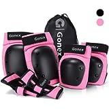 Gonex Protezione Kit per Bambini Adulti, Set Ginocchiere Gomitiere Polsiere Protettivo Kids Protective Gears per Skate…